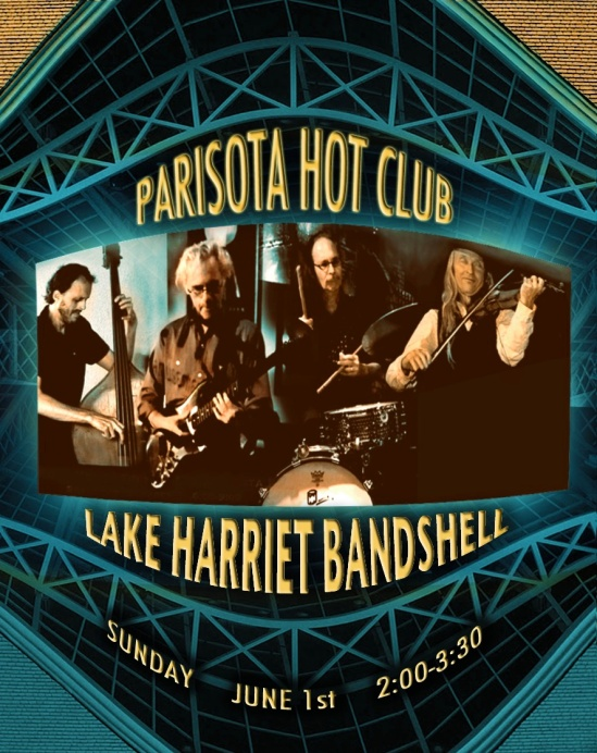 PHC at Lake Harriet Bandshell Sunday June 1st