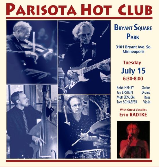 Parisota Hot Club at Bryant Square Park