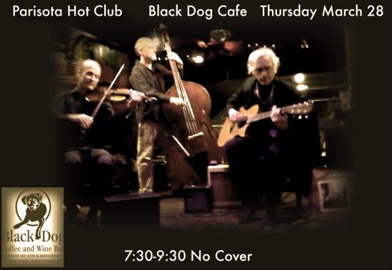 Black Dog Cafe Thursday March 28 2013
